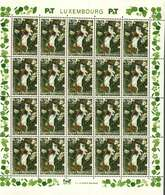 Luxembourg Feuille De 20 Timbres à 0,70 + 0,10 Euro Hermine, Hermelin, Hermelin Timbre De Bienfaisance 2003 - Full Sheets