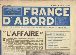 N°233 FRANCE D ABORD  ( FTPF) Du 15 Janvier 1948  (E Triolet ) - Journaux - Quotidiens