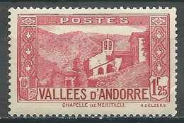 Andorre Français YT N°77 Chapelle De Meritxell Neuf/charnière * - Nuevos