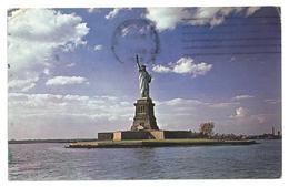 U.S.A. Stati Uniti D'America Statue Of Liberty National Monument  Liberty Island Viaggiata 1964 Condizioni Come Da Scans - Statua Della Libertà