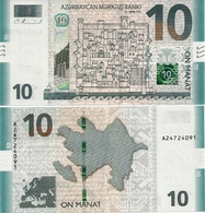 AZERBAIJAN       10 Manat       P-New       2018 (2019)       UNC - Azerbaïjan
