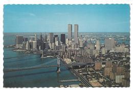 U.S.A. Stati Uniti D'America Aerial View Of Lower Manhattan Skyline With The Brooklyn Bridge  Non Viaggiata Condizioni C - Manhattan