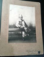 Photo 10x14cm Alzieu Palisson JONZAC 17 Arlequin - Personnes Anonymes