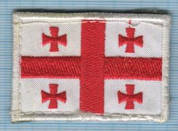 GEORGIA / Patch, Abzeichen, Parche, Ecusson / ARMY. Armed Forces. Flag Of The Country. Velcro. - Ecussons Tissu