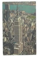 U.S.A. Stati Uniti D'America Aerial View Of Empire State Building  New York City Viaggiata 1969 Condizioni Come Da Scans - Empire State Building