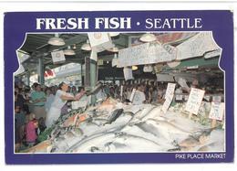 U.S.A. Stati Uniti D'America Fresh Fish Seattle Pike Place Market  Non Viaggiata Condizioni Come Da Scansione - Seattle