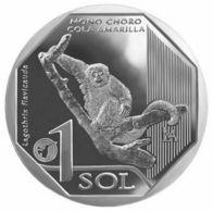 Peru - 1 Sol 2019 Comm.Yellow Tail Monkey  UNC. - Peru