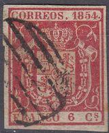 ESPAÑA - SPAGNA - SPAIN - ESPAGNE - 1854- Yvert 24 Usato. - Gebraucht