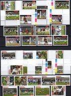 Championat 2004 Africa 9 Werte+ER, AFGHAN Stamps+ER ** 55€ Fußball-WM Hb Bloc Sets S/s Soccer Sheetlets Bf Football - Timbres