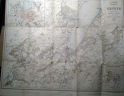 Plan Du Canton De  GENEVE - Réductrion Général DUFOUR Par Briquet & Fils 1873 - Landkarten