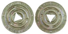 03137 GETTONE TOKEN JETON GASWERK  WESERMÜNDERS GUT FÜR 1 Cbm GAS BREMEN  1936/37 - Germany
