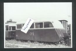 Pontarlier -Autorail Oiseau Bleu De La CFD En Gare En 1952 - Reproduction - Pontarlier