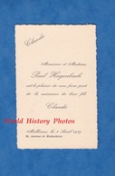Carte Ancienne - MULHOUSE - Monsieur & Mme Paul HAGENBACH , Naissance De Claude - 3 Avril 1927 - Birth & Baptism