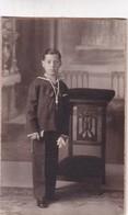 PORTRAIT ENFANT BOY MARINE SUIT ART FOTOGRAFIC RIBO SPAIN CIRCA 1880s Cm.9x13.5 - BLEUP - Photographs