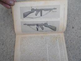 TM Livret De Mitraillette Thompson Calibre 45 (11,43) M1928A1 Tampon Du 4 Eme Zouaves - 1939-45