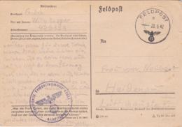 German Feldpost WW2: Postcard From Lida In Belorus -  A Frontarbeiter In Organisation Todt O.B.R. Dresden Standort - Militaria
