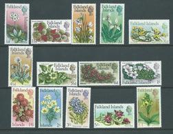 Falkland Islands 1968 Flower Definitive Set 14 MLH - Falkland Islands