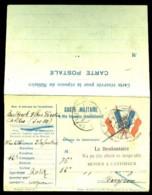 """76° Régiment D'nfanterie - RARE Carte-militaire Avec Volet """"""""Réponse Du Militaire"""""""" - 1914 - War 1914-18"""