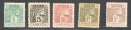 TANGER à FEZ  5 Valeurs, Neufs Sans Gomme - Marokko (1891-1956)