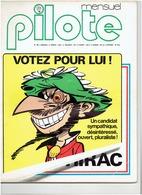 N°34( Mars 1977)  PILOTE Mensuel ; Votez Pour Lui Par TABARY, GREG, CHRISTIN .. - Newspapers