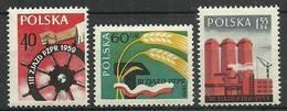 Poland 1959 Mi 1090-1092 MNH ( ZE4 PLD1090-1092 ) - Fabrieken En Industrieën