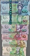 TURKMENISTAN SET 6 NOTES - UNC - COMMEMORATIVE - Turkmenistan