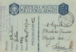 FRANCHIGIA WWII POSTA MILITARE 79 1940 LIVORNO X AGROPOLI - 1900-44 Vittorio Emanuele III