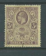 Sierra Leone 1912 - 1921 KGV & Elephant 3d FU - Sierra Leone (...-1960)