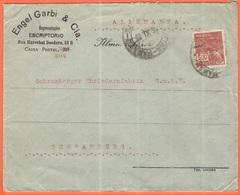 BRASILE - BRASIL - 1929 - 500 Reis - Engel Garbi & Cia - Viaggiata Da Brasil Per Schramberg, Germany - Brasile