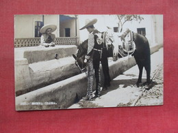 RPPC Escena Chara  Man While Watering His Horse  Mexico   Ref 3334 - Mexico
