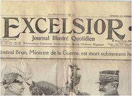 EXCELSIOR Du 24 Fevrier 1911 ,saut En Parachute De La Tour Eiffel, Boxe :Summer Eustache, Place Massena Carnaval De NICE - Journaux - Quotidiens