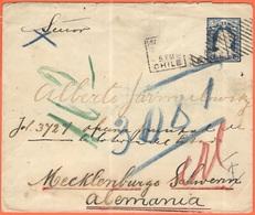 CILE - CHILE - 1901 - 5 Centavos + Missed Stamp - Intero Postale - Entier Postal - Postal Stationery - Viaggiata Da Sant - Cile