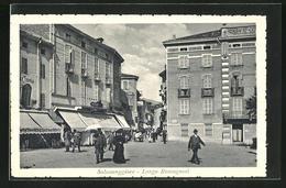 Cartolina Salsomaggiore, Largo Romagnosi - Italia