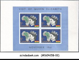 GHANA - 1961 VISIT OF QUEEN ELIZABETH II - MINIATURE SHEET MINT NH - Ghana (1957-...)