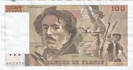 Francia - France 100 Francs 1993 Pk 154 G.2 Firmas Bruneel, Bonnardin Y Vigier Ref 44 - 1962-1997 ''Francs''