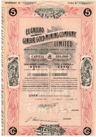 Titre Ancien - El Gallao General Gold Mining Company Limited - Titre De 1906 - Déco - Mines