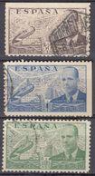 ESPAÑA - 1939- Lotto Di 3 Valori Usati: Yvert Posta Aerea 198 E 199 Con Un Lato Non Dentellato E 200 Normale. - Aéreo