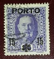 Autriche Porto 1916-18 Surcharge 15 - Oblitérés