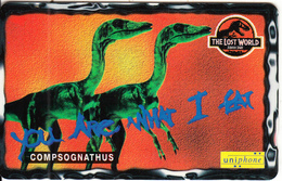 MALAYSIA(GPT) - Jurassic Park-The Lost World/Compsognathus, CN : 115USBD, Used - Malaysia