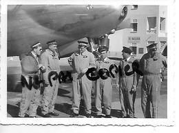 ALGERIE EL GOLEA AVIATION 1958  PHOTO  AVION EQUIPAGE - Aviation