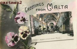 GREETINGS FROM MALTA MALTE ST-JOHN'S CATTEDRAL ITALIA - Malte