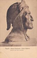DANTE ALIGHIERI. BRONZO TRATTO DALLA MASCHERA. MUSEO NAZIONALE, NAPOLI. ED E RAGOZINO. CPA CIRCA 1900s - BLEUP - Sculture
