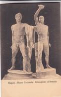 ARISTOGITONE ED ARMODIO. MUSEO NAZIONALE, NAPOLI. ED E RAGOZINO. CPA CIRCA 1900s - BLEUP - Sculture