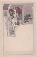 Jugendstil  -  Un'acconciatura Di Perle Rosse  -  Edit.  M. M. Vienne  ,  Nr.  127 - Illustratori & Fotografie