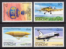 ST VINCENT GRENADINES - 1983 MANNED FLIGHT ANNIVERSARY SET (4V) FINE MNH ** SG 250-253 - St.Vincent & Grenadines