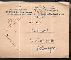 Tunisie Lettre Du 12 03 1975 Du Minstère  Des Transports  Pour La Poste D ' Allemagne - Tunisie (1956-...)