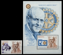 Ghana 1997 - Mi-Nr. 2511 & Block 231 ** - MNH - Rotary - Ghana (1957-...)
