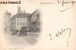 HERICOURT L'HOTEL DE VILLE ANIME 1900 - France
