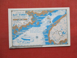 Map   Across The Bay Of Fundy       Ref 3335 - New Brunswick