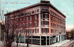 Indiana Muncie Delaware Hotel 1914 - Muncie